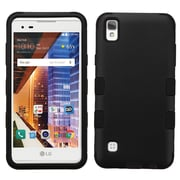 Insten Tuff Hard Dual Layer Rubberized Silicone Case For LG Tribute HD / X STYLE - Black