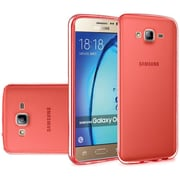 Insten Frosted Rubber Case For Samsung Galaxy On5 - Red