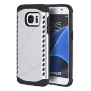 Insten Shocker Hybrid Hard Silicone Shockproof Case Cover For Samsung Galaxy S7 - Silver/Black