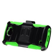 Insten Advanced Armor Hybrid Dual Layer Stand Holster Clip Case For LG K3 LS450 - Black/Green