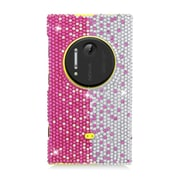 Insten Hard Bling Cover Case For Nokia Lumia 1020 - Hot Pink/Silver