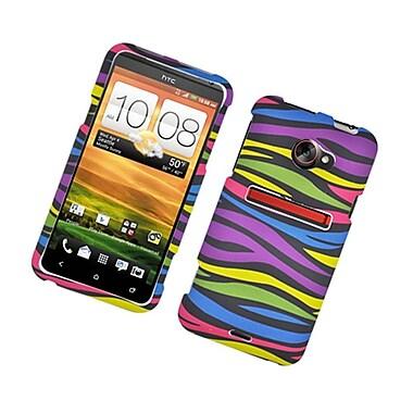 Insten Zebra Hard Rubber Coated Cover Case For HTC EVO (LTE version) - Colorful
