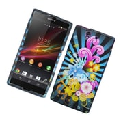 Insten Fireworks Hard Cover Case For Sony Xperia Z C6603 - Blue/Colorful