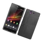 Insten Carbon Fiber Hard Case For Sony Xperia Z C6603 - Dark Gray