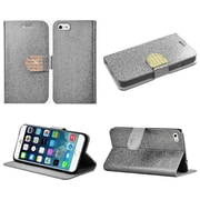 "Insten Flip Leather Glitter Cover Case w/stand/card holder/Diamond For Apple iPhone 6 Plus 5.5"" - Silver/Gold"