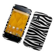 Insten Zebra Hard Cover Case For LG Google Nexus 4 - Black/White