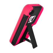 Insten For Apple iPhone 4 / 4s Armor 4 In1 Shell Back Protective Case w/Card Bottle Opener Stand - Red