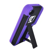 Insten For Apple iPhone 4 / 4s Armor 4 In1 Shell Back Protective Case w/Card Bottle Opener Stand - Purple
