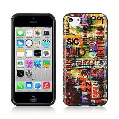 Insten TPU Imd Design Rubber Skin Gel Back Shell Case Cover For Apple iPhone 5C - Urban Graffiti
