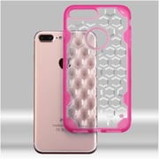 Insten Hard Crystal TPU Case For Apple iPhone 7 Plus - Clear/Hot Pink