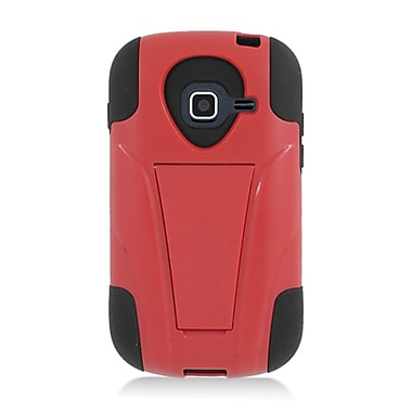 Insten Hard Hybrid Plastic Silicone Case with stand for Samsung Galaxy Centura - Red/Black