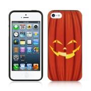 Insten TPU Imd Halloween Design Rubber Skin Gel Back Shell Case For Apple iPhone 5 / 5S - Orange Pumpkin