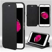 Insten Book-Style Leather Fabric Cover Case w/stand For Apple iPhone 7 Plus - Black