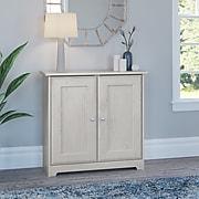 "Bush Furniture Cabot 30.2"" Storage Cabinet with 2 Shelves, Linen White Oak (WC31196-03)"