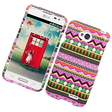 Insten Elegant Tribal Hard Rubber Coated Case For LG Optimus L70 / Optimus Exceed 2 VS450PP/Realm - Colorful