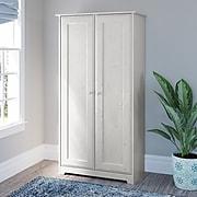 "Bush Furniture Cabot 61.14"" Storage Cabinet with 4 Shelves, Linen White Oak (WC31197-03)"
