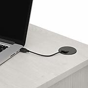 "Bush Furniture Cabot 60"" Corner Desk with Hutch, Linen White Oak (CAB008LW)"