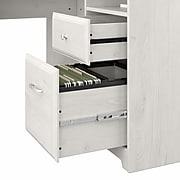 "Bush Furniture Cabot 60""W L-Shaped Desk, Linen White Oak (WC31130-03K)"