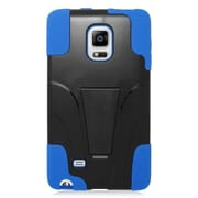 Insten Hard Dual Layer Plastic Silicone Case with stand For Samsung Galaxy Note Edge - Blue