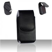 Insten For Samsung Galaxy S4 i9500 w/Case Cover Black Vertical Pouch w/Rotatable Clip BVP-31