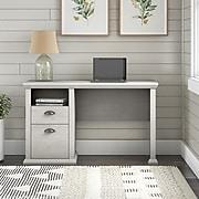 """Bush Furniture Yorktown 50"""" Home Office Desk with Storage, Linen White Oak (WC40423-03)"""