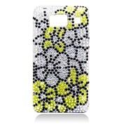 Insten Flowers Hard Diamond Case For Motorola Droid Razr HD XT926 - Green/Silver