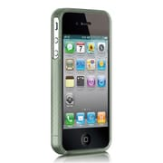 Insten Crystal Skin Tinted Silicone Back Gel Soft Case Cover For Apple iPhone 4 / 4S - Green