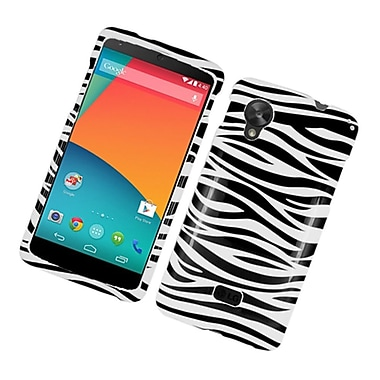 Insten Zebra Hard Case For LG Google Nexus 5 - Black/White