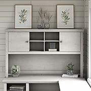 Bush Furniture Yorktown Transitional Desk Hutch, Linen White Oak (WC40431-03)