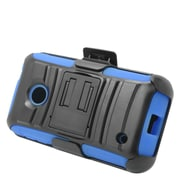 Insten Stand Dual Layer Hybrid Case with Holster For Nokia Lumia 530 - Black/Blue