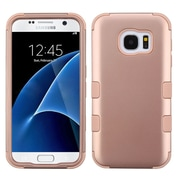 Insten Tuff Hard Dual Layer Rubberized Silicone Case For Samsung Galaxy S7 - Rose Gold