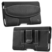 Insten Horizontal Suede Leather Style Pouch Cover with Belt Clip For Samsung Galaxy Note - Black