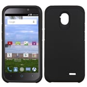 Insten Hard Hybrid Rubber Coated Silicone Cover Case For ZTE Allstar - Black