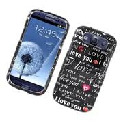 Insten Love You Hard Case For Samsung Galaxy S3 - Black/White