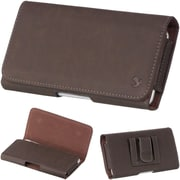 "Insten Horizontal Leather Style Pouch Cover with Belt Clip For Samsung Galaxy Mega 6.3"" GT-I9200 - Brown"