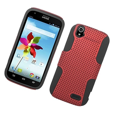 Insten Astronoot Hard Hybrid Rubber Coated Silicone Case For ZTE Grand X - Red/Black