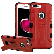 Insten Hard Hybrid Rubber Coated Silicone Case w/stand/Holster For Apple iPhone 7 Plus - Red/Black