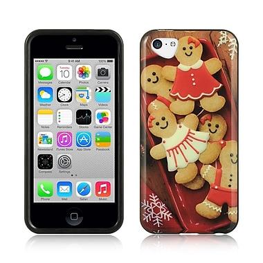 Insten TPU Imd Christmas Design Rubber Skin Gel Back Shell Case For Apple iPhone 5C - Gingerbread