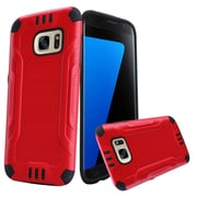 Insten Hard Dual Layer TPU Cover Case For Samsung Galaxy S7 - Red/Black