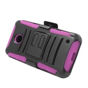 Insten Stand Dual Layer Hybrid Case with Holster For Nokia Lumia 630/635 - Black/Hot Pink
