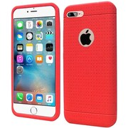 Insten Rugged Silicone Rubber Cover Case For Apple iPhone 7 Plus - Red