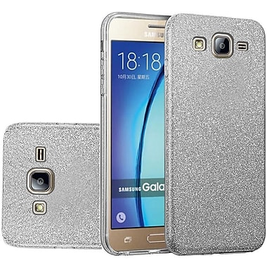 Insten Glitter Paper Hybrid Clear Hard PC/TPU Dual Layer Protective Case For Samsung Galaxy On5 - Smoke