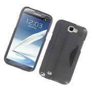 Insten Carbon Fiber Hard Case For Samsung Galaxy Note 2 II - Dark Gray