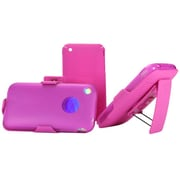 Insten Hard Dual Layer Silicone Cover Case w/Holster For Apple iPhone 3G / 3GS - Hot Pink