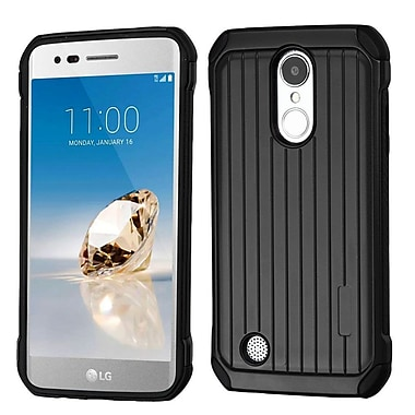 Insten Suitcase Dual Layer Hybrid Hard TPU Protective Case For LG Aristo / Fortune / K8 (2017) / LV3 / Phoenix 3 - Black