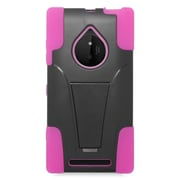 Insten Hard Hybrid Plastic 2-Layer Case with stand For Nokia Lumia 830 - Hot Pink