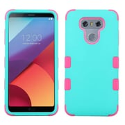 Insten TUFF Hybrid Shockproof Cover Case [Military-Grade Certified] For LG G6 - Teal Green/Electric Pink