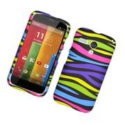 Insten Zebra Gel Case For Motorola Moto G(1st Gen) - Colorful