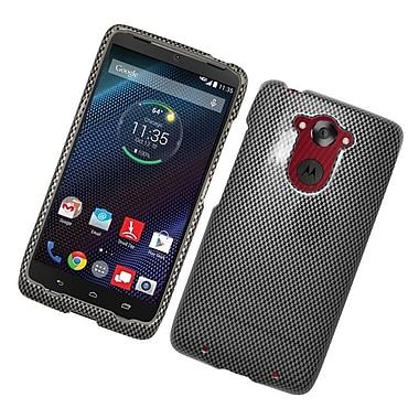 Insten Carbon Fiber Hard Case For Motorola Droid Turbo - Black/Gray