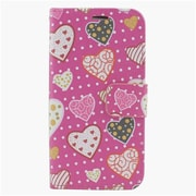 Insten Hearts Leather Wallet Case with Photo Display & Card Slot For iPhone 6s Plus / 6 Plus - Pink